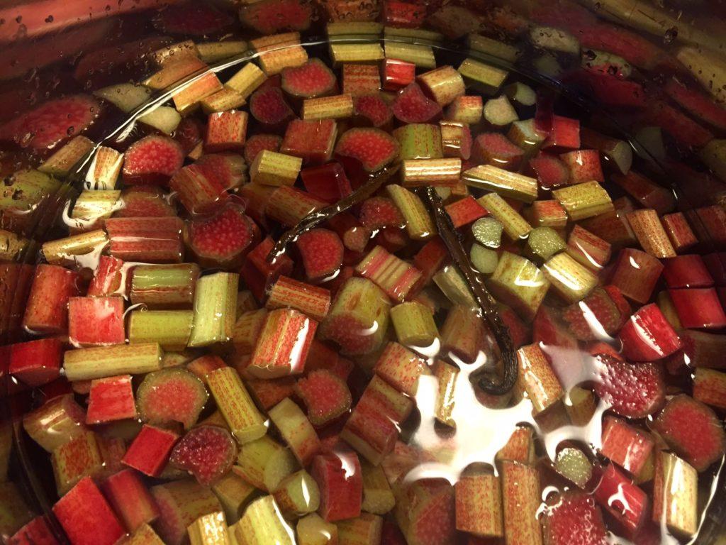 Frisk og lækker rabarbersaft med stikkelsbær