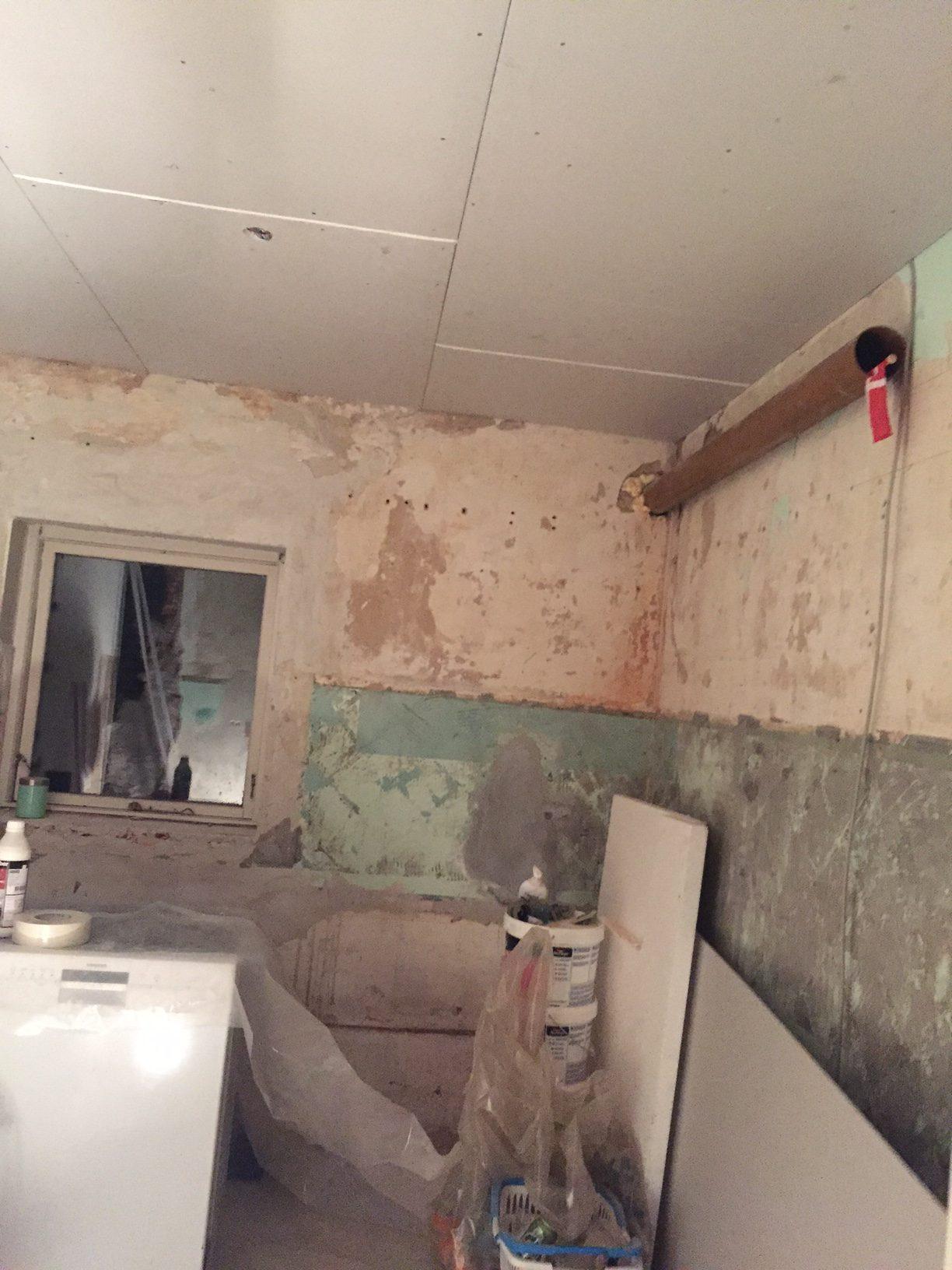 At bo midt i en byggeplads - status på projekt nyt køkken